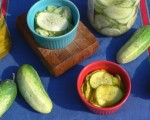 Honey Lemon Refrigerator Pickles (Bread and Butter Style)