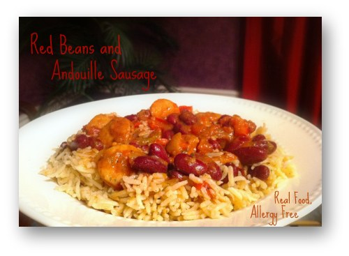 Red Beans, Rice and Andouille Sausage Recipe (Dairy-Free ...