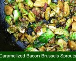 Caramelized Brussels Sprouts with Bacon Pieces