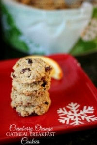 Cranberry Orange Oatmeal Breakfast Cookies - Gluten Free, Vegan