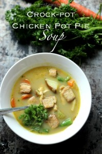 Chicken Pot Pie Soup  - Dairy Free