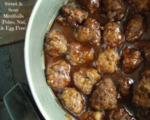 Sweet and Sour Meatballs - egg free