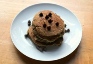 Chocolate Chip Sweet Potato Pancakes - gluten free, dairy free, nut free, vegan