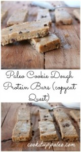 Paleo Cookie Dough Protein Bars - gluten free, dairy free, egg free