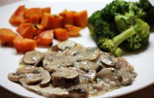 Paleo Pork Chops with Muschroom and Rosemary Sauce - Dairy Free