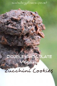 Double Chocolate Zucchini Cookies - gluten free, vegan