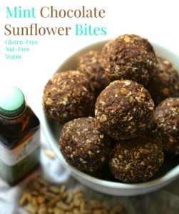 Mint Chocolate Sunflower Bites - Vegan, Gluten Free, Nut Free