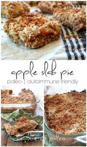 Paleo Apple Slab Pie