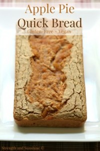 Apple Pie Quick Bread - Gluten Free, Vegan, Nut Free